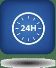24 uur per dag geopend